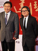 陈可辛(右)亮相红毯