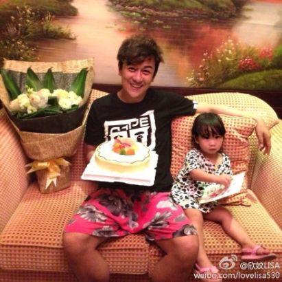 陈浩民与女儿