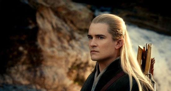 """奥兰多・布鲁姆饰演的""""精灵王子""""在《霍比特人 2》中回归。"""