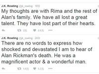 《哈利波特》作者罗琳发推悼念艾伦里克曼