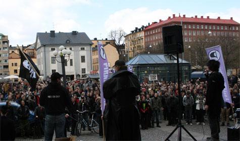 BT网站海盗湾被判有罪引发瑞典千人抗议