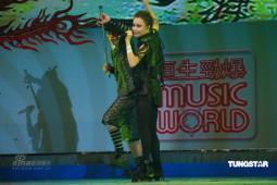 组图:容祖儿一袭黑色皮装登台献劲歌热舞