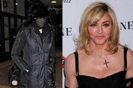 """麦当娜整脸""""裹面具""""上街被怀疑再次整容(图)"""