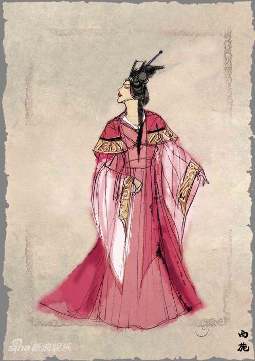 资料:歌剧《西施》人物服装设计图--西施