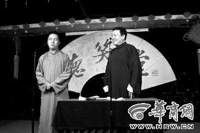 马鹤琪(左)上周已在德笑堂演出