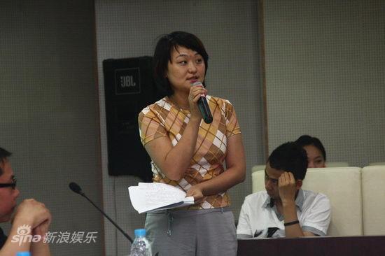 图文:青戏节发布会-青年导演姬沛发言