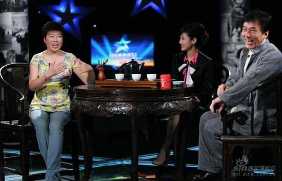 成龙当选上海电影节环保明星与于丹谈孝道(图)