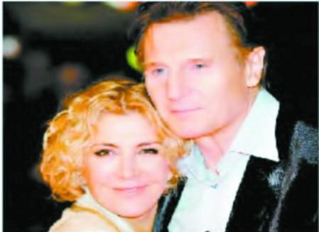 辛得勒利亚姆-尼森与妻子娜塔莎-理查森