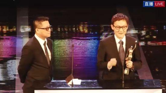 梁乐民与陆剑青凭《寒战》获最佳编剧奖