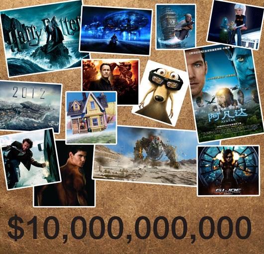 2009年北美票房创纪录总收入超100亿美元(图)