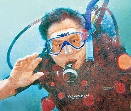 李安潜水照