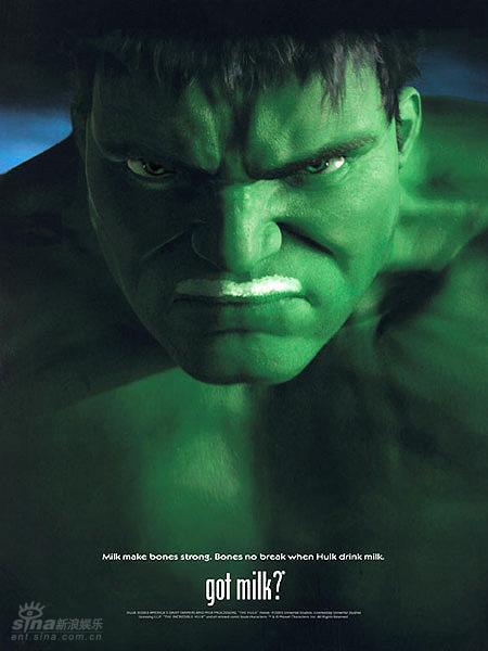 """图文:明星们的""""牛奶胡子""""-绿巨人"""