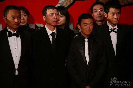 图文:《集结号》首映张涵予冯小刚王宝强任泉