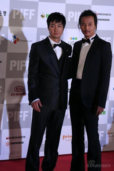 图文:釜山电影节开幕朴海日和金南吉亮相