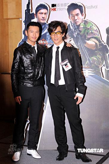 图文:《神枪手》首映--黄晓明与任贤齐