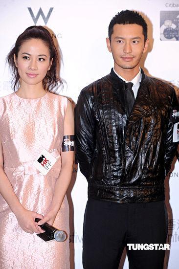 图文:《神枪手》首映--叶璇与黄晓明