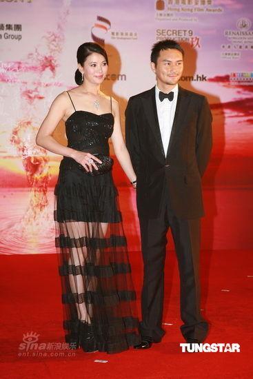 图文:香港金像奖红毯--袁咏仪薄纱裙下藏美腿