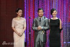 组图:张涵予果静林获影帝陈红张国立徐帆颁奖