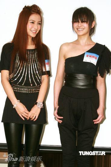 图文:《全城热恋》香港发布会--两人形同姐妹