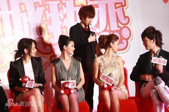 图文:《全城热恋》首映--付辛博要坐美女旁边