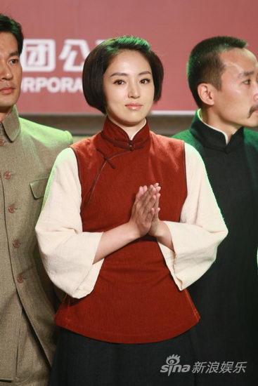 图文:《建党伟业》发布-董璇鼓掌
