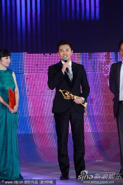 图文:金鸡百花颁奖--苏有朋激动发表获奖感言
