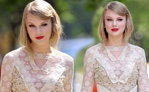 泰勒-斯威夫特镂空裙亮相纽约时装周