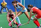 女子曲棍球英国逼平阿根廷