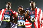 美国包揽男子400米栏三甲