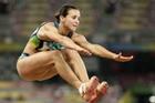 巴西选手女子跳远折桂