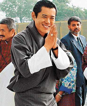 梁朝伟夫妇拜见不丹国王婚宴酒店保安森严(图)