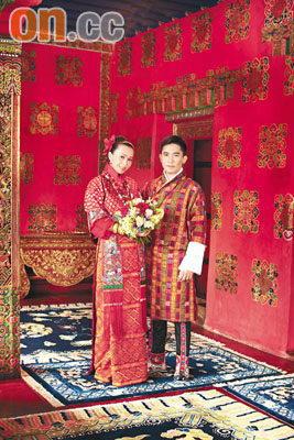 梁朝伟刘嘉玲今日成婚不丹王宫拍结婚照(图)