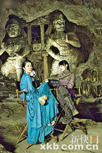 梁洛施在《盗墓迷城3》中表现抢眼