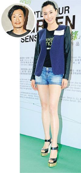 陈法拉无辜与郑中基(圆图)传绯闻,她直斥报道无聊。