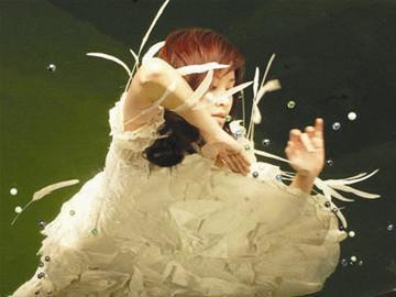 叶一茜婚纱价格高达十万婚礼现场鲜花成海(图)