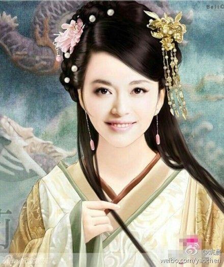 姚晨晒粉丝作品,古典扮相优雅迷人。