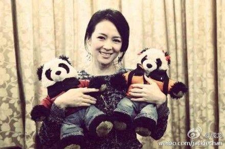 章子怡和熊猫lazy