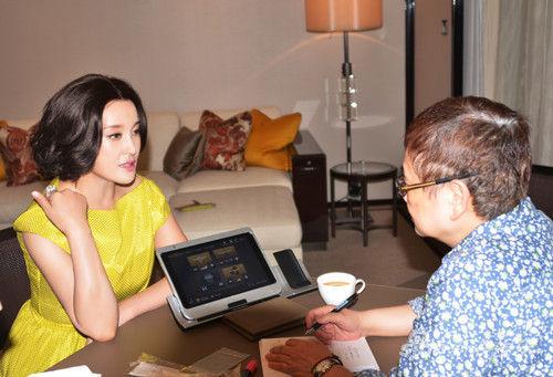 刘晓庆与香港记者