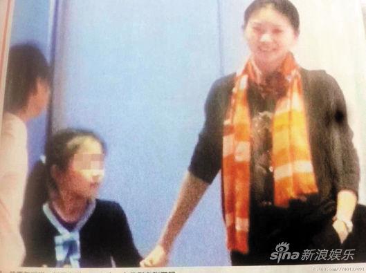 早前媒体曝光陈婷与小女儿的照片