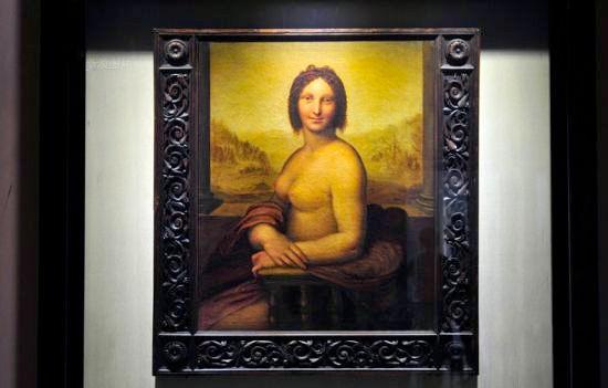 达芬奇《半裸的蒙娜丽莎》展出价值不菲