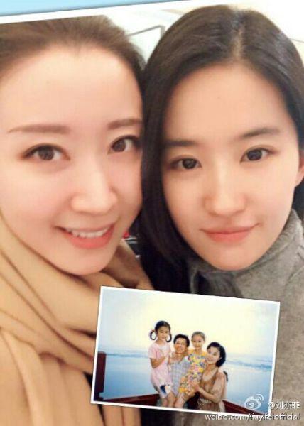 刘亦菲与小闺蜜重逢