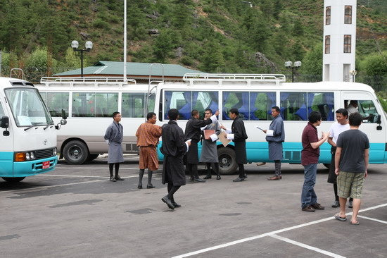 图文:婚礼嘉宾抵达不丹--现场接待人员