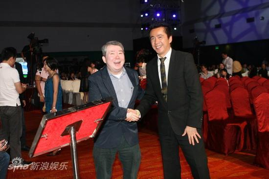 图文:华谊明星汇盛典现场--文隽与王中磊