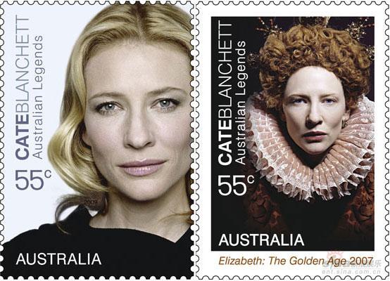 澳大利亚发行新邮票妮可-基德曼等成主角(图)