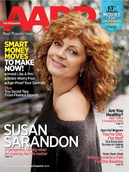 苏珊萨兰登做杂志封面
