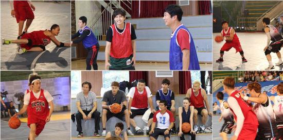 《艺体能》公开花絮照 成员汗洒篮球场