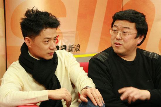 图文:《团长》主创做客--段奕宏(左)与吴毅
