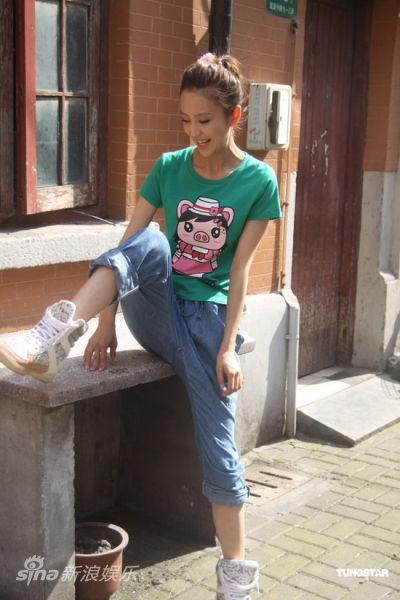 《断奶》上海热拍--佟丽娅休闲