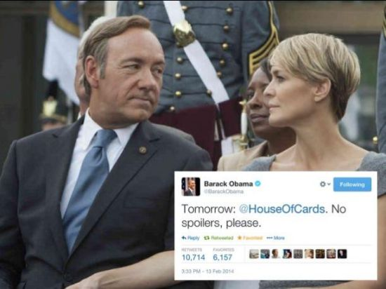 奥巴马求别剧透《纸牌屋》