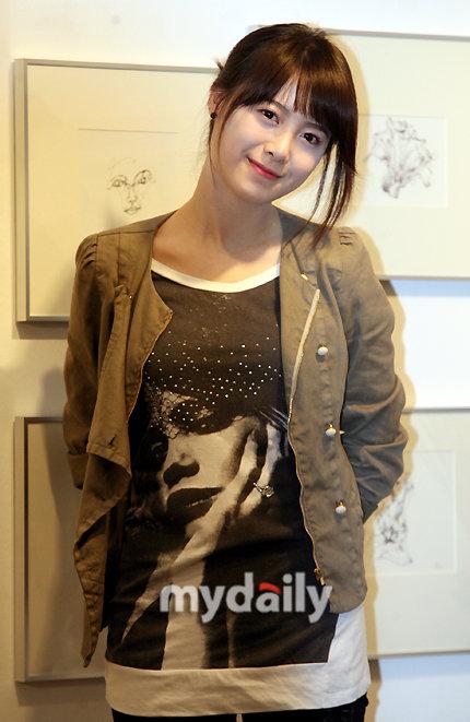 韩国女演员具惠善1日下午在首尔仁寺洞举行了